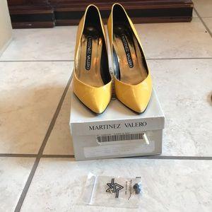 Martinez Valero Yellow Heels